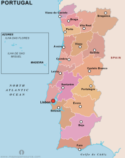 Portugal district map