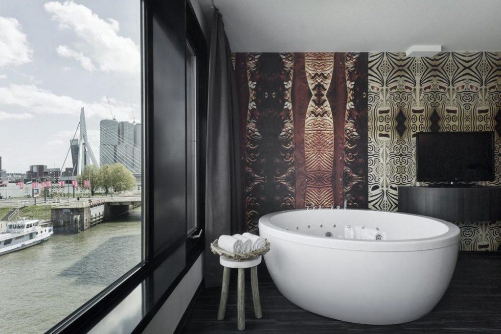 Spa海濱客房- 鹿特丹住宿推薦:梅恩波特設計酒店/ 圖片來源 Mainport Design Hotel