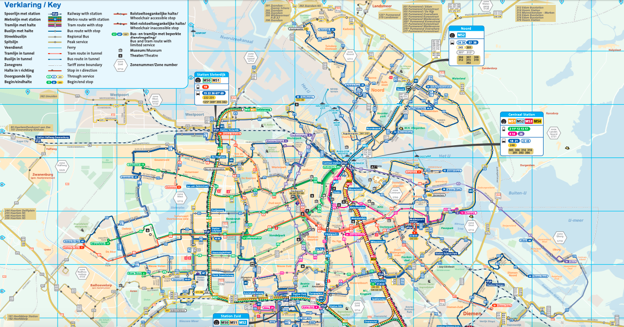 阿姆斯特丹 GVB交通地圖/ 圖片來源