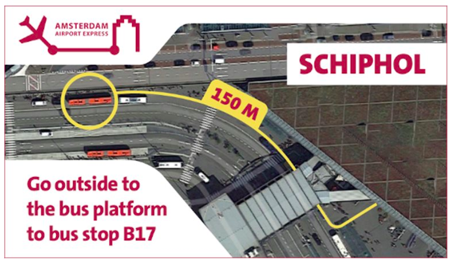 阿姆斯特丹機場巴士 397和N97搭車地點