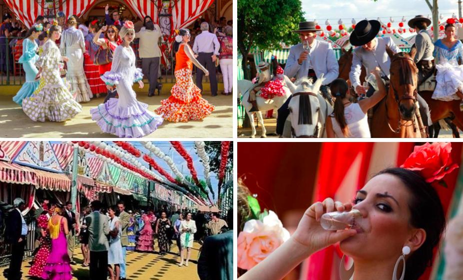 服裝、帳篷-塞維亞春之慶典 feria de Sevilla