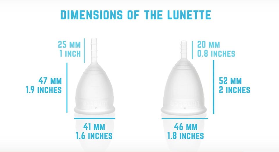 芬蘭杯Lunette月亮杯容量比較