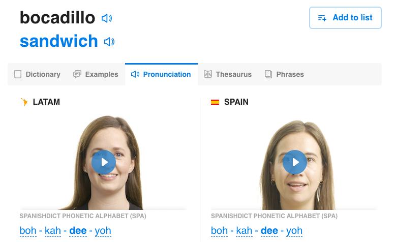 bocadillo - spanishdict.com